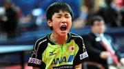 日本乒球神童扬言东京夺冠 来华遭小女孩血虐