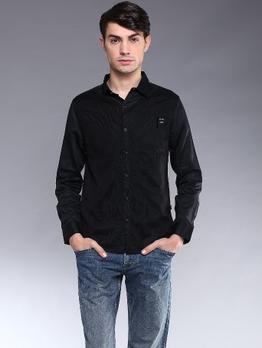 FairWhale Jeans(JS男装) \/ 男士纯棉拼接长袖衬