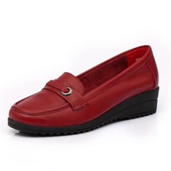 鞋中老年坡跟女鞋休闲