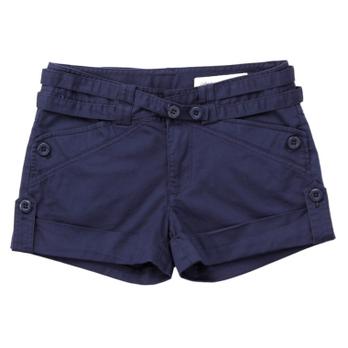 美特斯邦威 双腰带短裤女