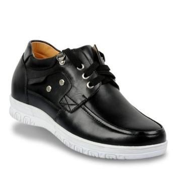 增高鞋皮鞋男士隐形内增高休闲皮鞋j709