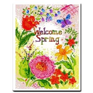 十字绣竖版 拥抱春天