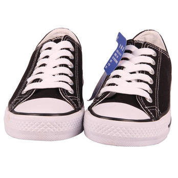 石林正品 男式帆布鞋v-901黑
