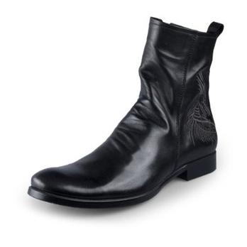 男靴男士皮靴中筒军靴工装