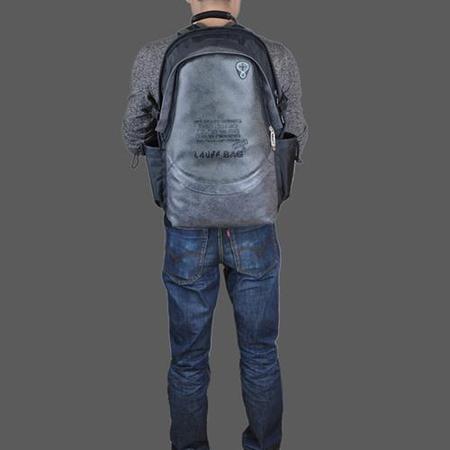 时尚个性男士14寸双肩背包-电脑包