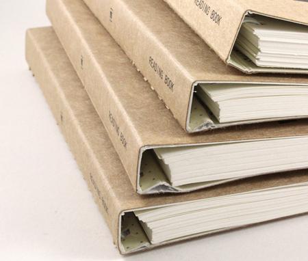 米可兰迪牛皮纸封面便携读书笔记本