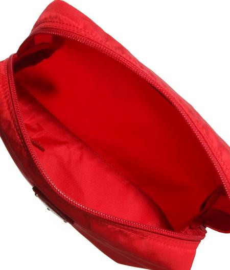 prada普拉达玫红色女士经典尼龙包