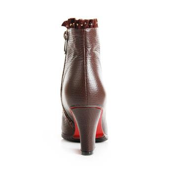 omig/欧米高2012新款女鞋女靴冬季真皮女粗高跟短