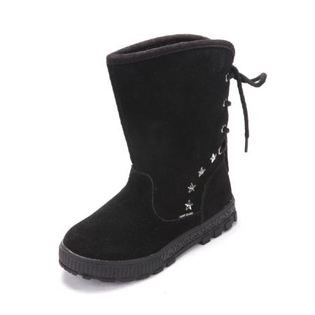 宝宝雪地靴防水皮鞋