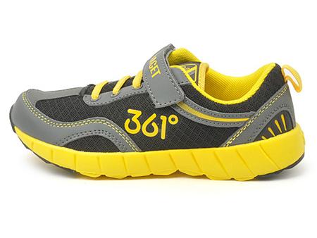 361°童鞋 儿童 361°童鞋男童运动鞋魔术贴皮/革/黑