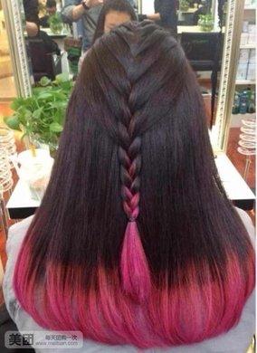 渐变染发图片 黑紫色头发染发图片 糖果色渐变背景图片图片