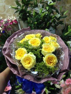 热卖父亲节黄玫瑰花束2选1