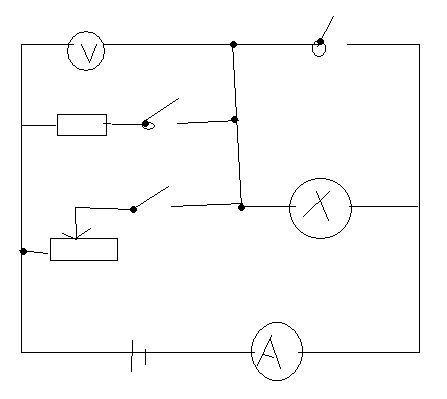 电阻和滑动电阻器属于并联  两个电阻和灯泡属于串联,整个电路属于混