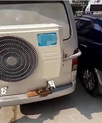 长安之星面包车现街头, 车尾直接背了一台空调! 网友
