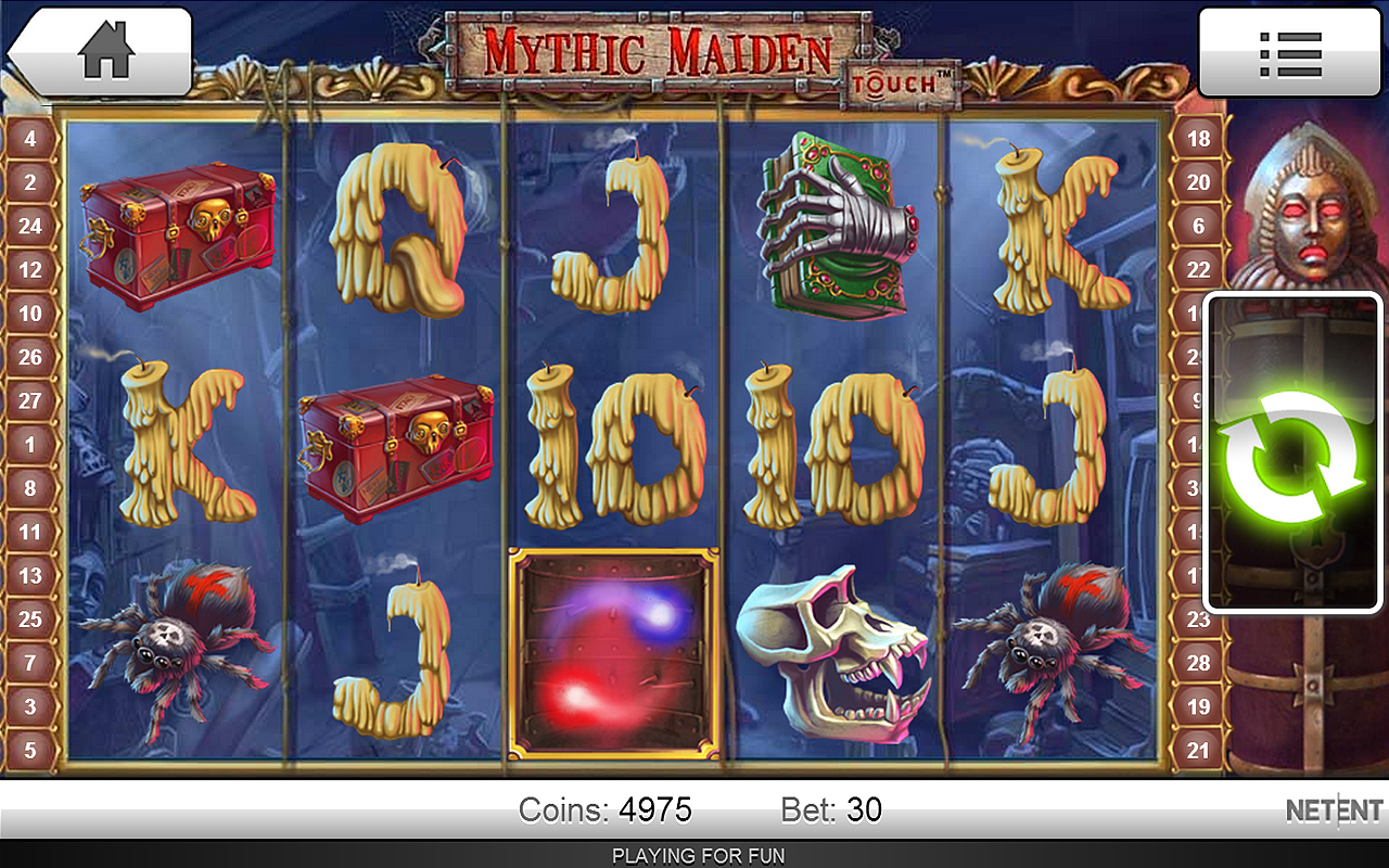 the excitement factor in this slot machine game is created by th