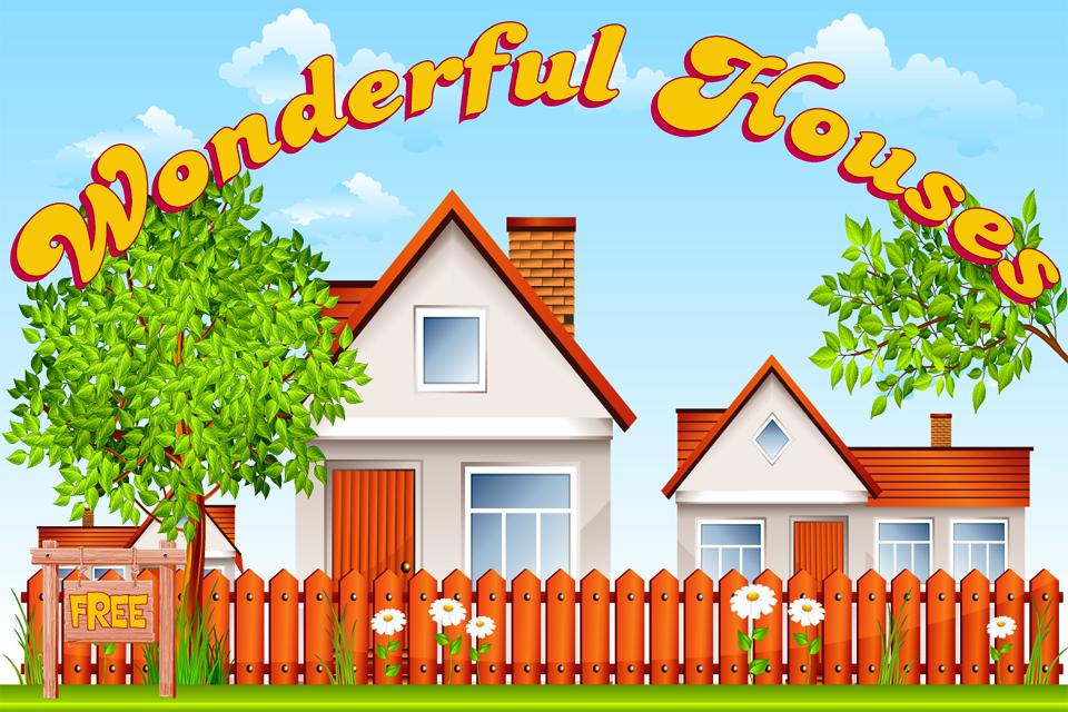 有些房子树屋,有的蘑菇房子