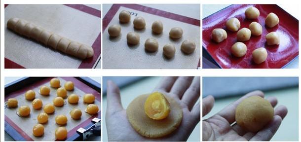蛋黄月饼制作方法图