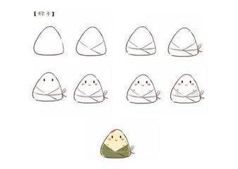 粽子的简笔画 - 中国广告知道网