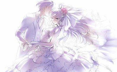 求图! 关键词: 婚纱 二次元 公主抱 kiss