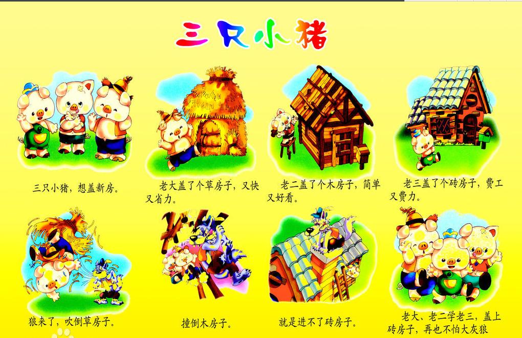编辑本段 在一个遥远的山村里,住着一位猪妈妈和她的三可爱的小猪.