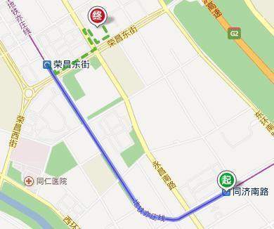 从同济南路地铁站到三洋能源公司骑车怎么走