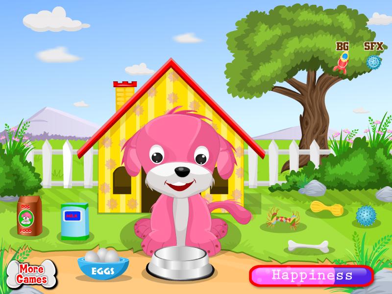 可爱的小狗女孩子的游戏下载