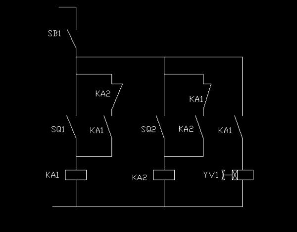 两个小型继电器 两个接近开关 一个电磁阀 一个气缸 怎么控制气缸重复
