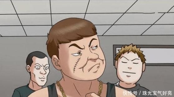搞笑漫画: 霸道男纹身不付钱, 机智老板早已看穿, 纹身时留了一手