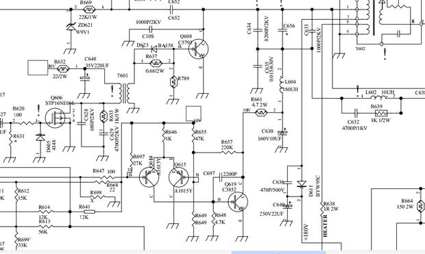 求海尔29f9d—py高清电视电路图纸