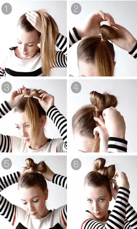女人头发背影手绘