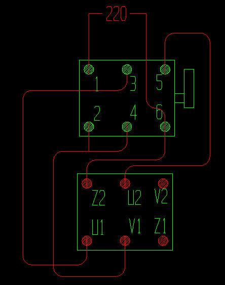 单相电机正反转接线图_双电容单相电机正反转接线柱图