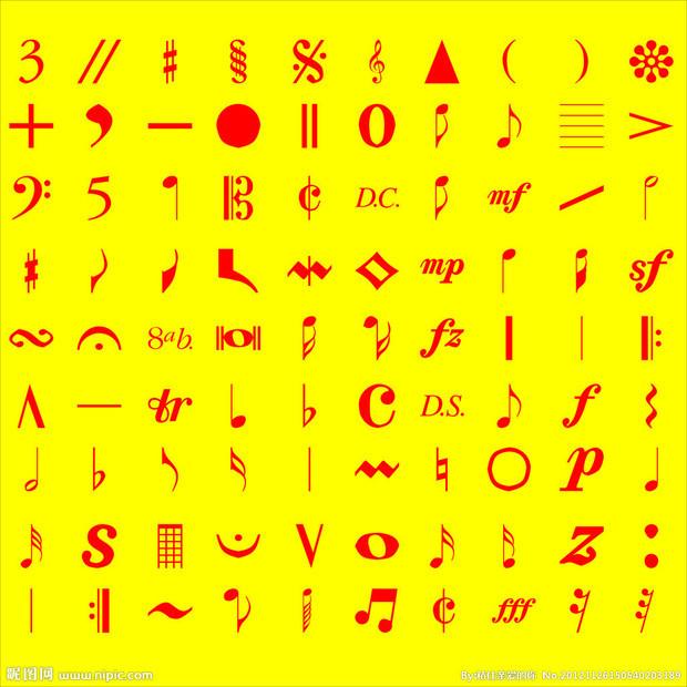 五线谱符号的名字