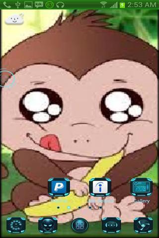 可爱的猴子墙纸