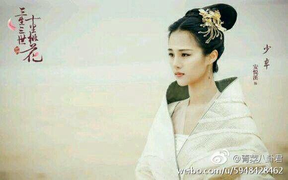 和赵丽颖合作的《花千骨》,她饰演的是超级可爱的糖宝