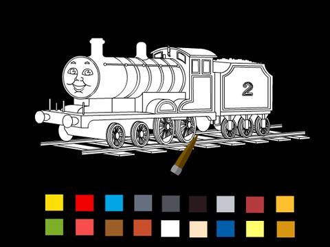 >托马斯小火车填色