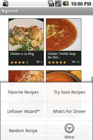 西餐菜谱APP截图