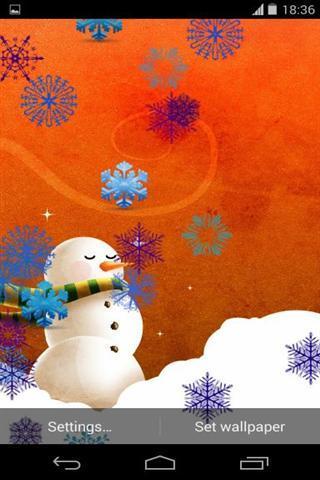 聊天通讯 圣诞雪人动态壁纸下载,—风暴网 软件
