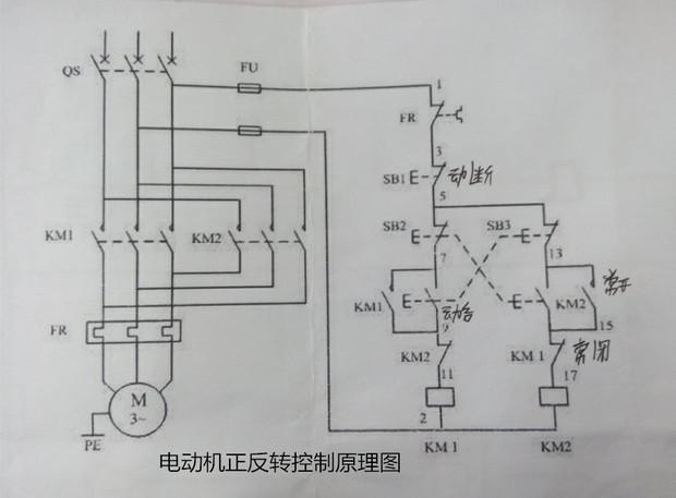 三相电动机 调换任意两根线接线