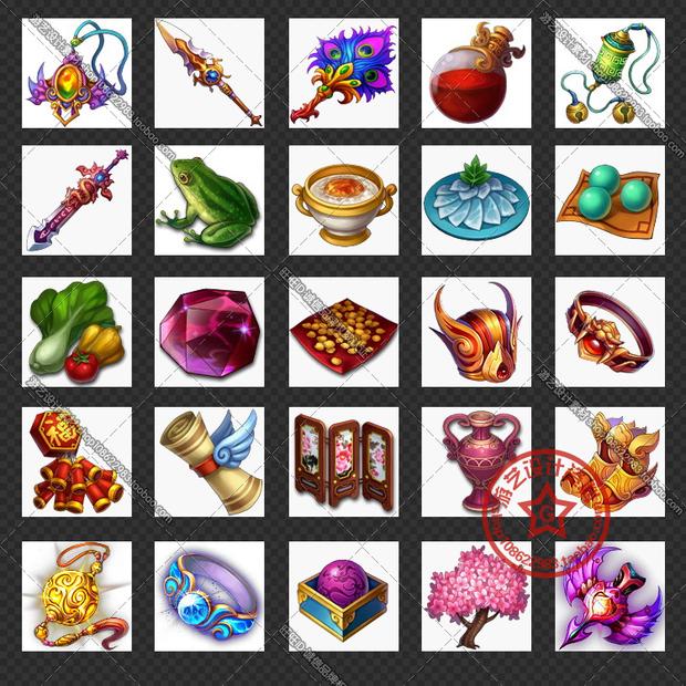 高清q版装备物品道具图标装备道具出自那款游戏