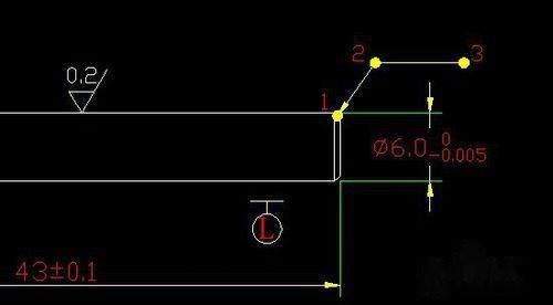 CAD标注倒角鞋cad设计图图片