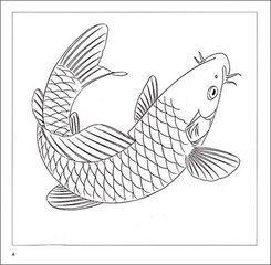 怎样用色铅笔画鲤鱼,求详细步骤图
