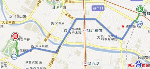 从成都春熙路到锦里的路线怎么坐车!求~_360