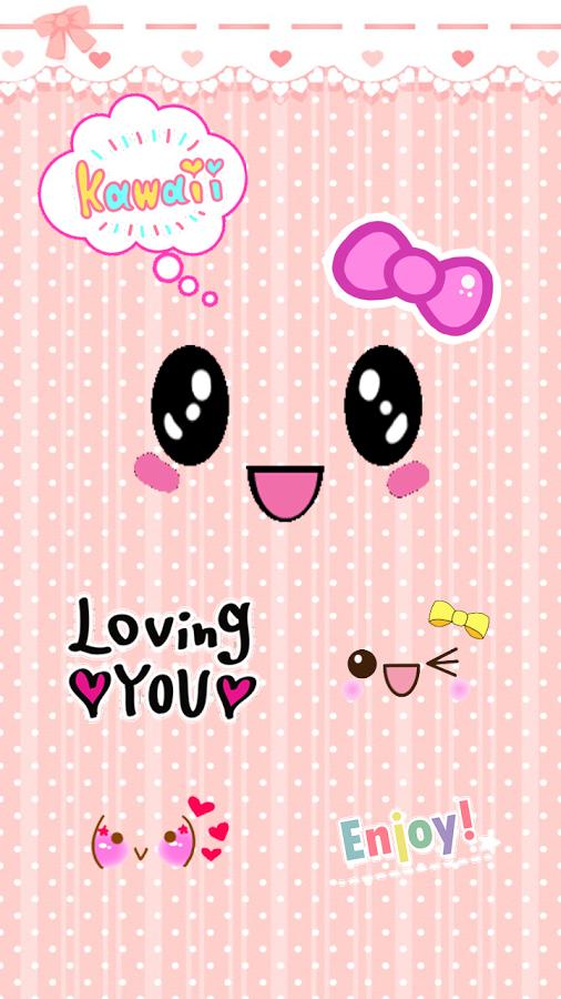 (^ - ^)/玩得开心,真的很享受与绘文字贴纸可爱的美丽的照片.