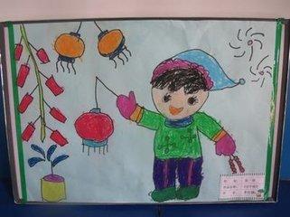 欢度春节的简易画,二年级 这些可以吗?,书画美术-8090图片