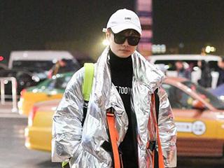 三位女星北京机场争相斗艳,蔡依林的衣品绝了!