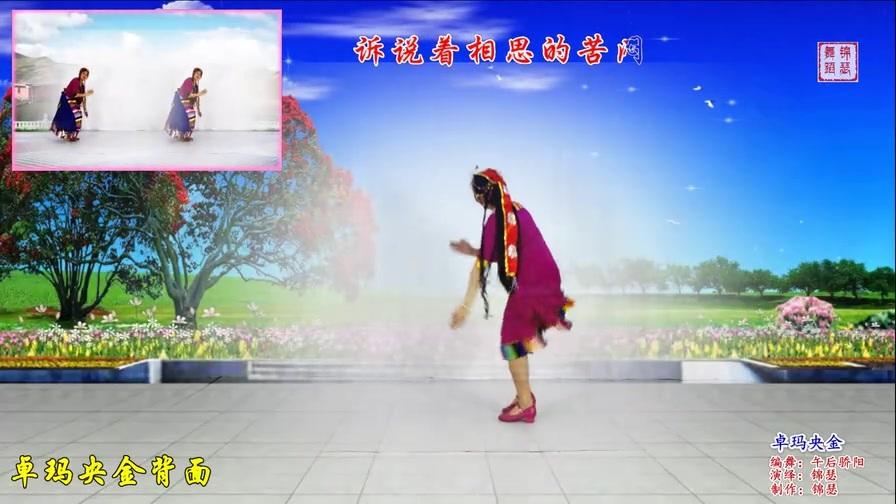 浓郁藏族风情广场舞《卓玛央金》多希望时刻在一起让爱的血液沸腾