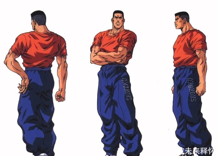 灌篮高手,赤木刚宪当年去海南高中,实现他称倪聪聪高中图片