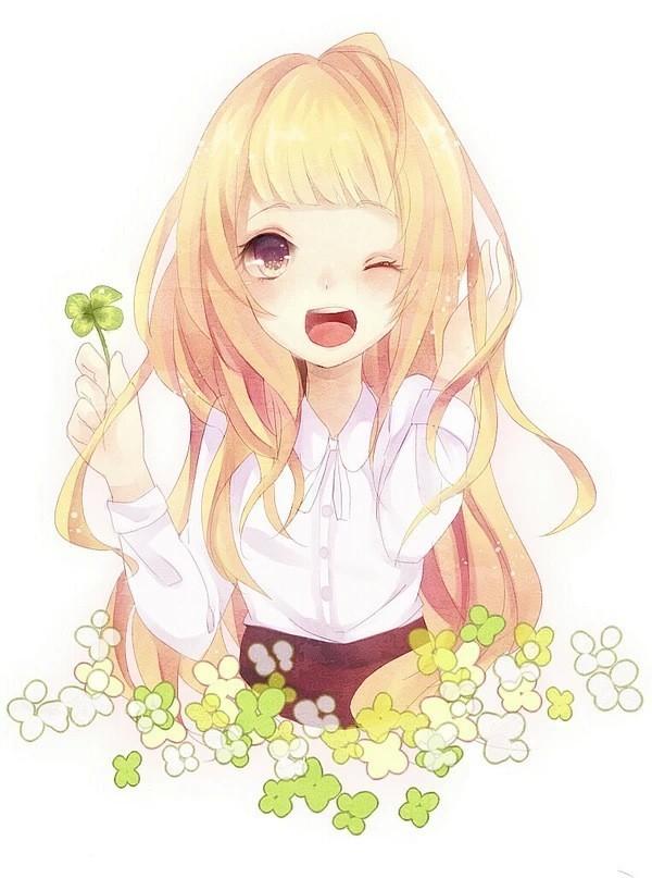求笑容灿烂可爱动漫女生的qq头像