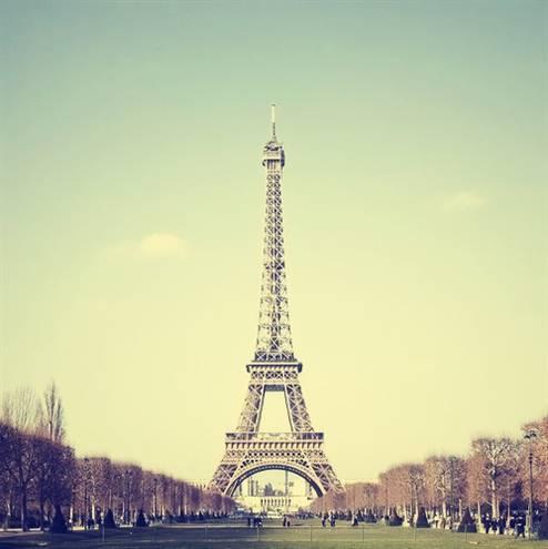 巴黎铁塔彩色简笔画