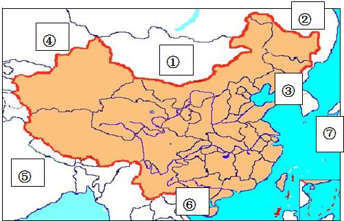 读中国的疆域图,做题
